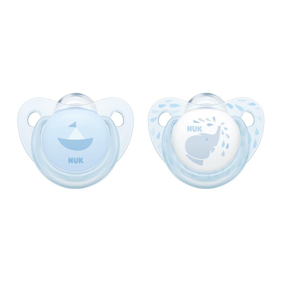 NUK Fopspeen Trendline Silicone Gr. 1 blauw