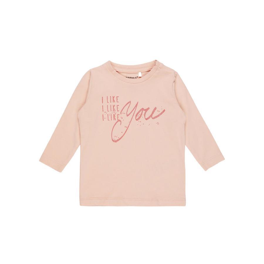 name it Girls Langarmshirt Fidas rosa