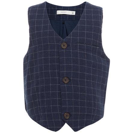 name it Boys Vest Fittin jurkje blauw