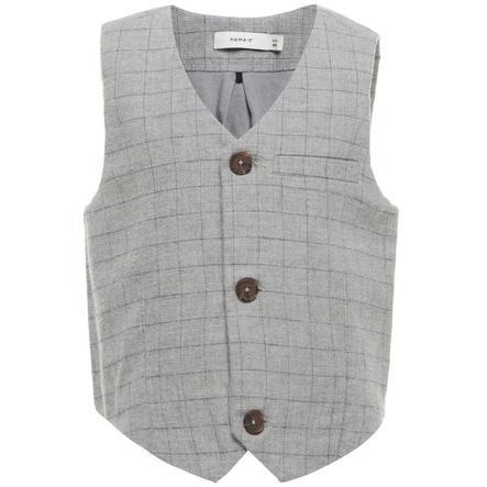Name It Boys Fitting Vest grey melange