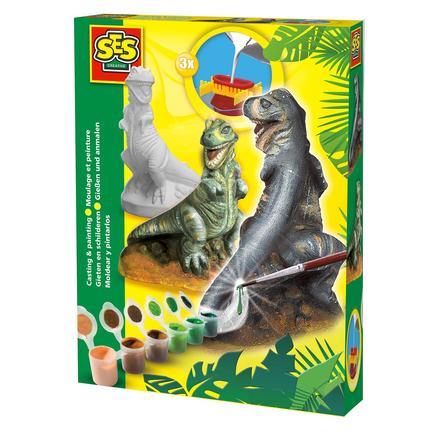 SES Creativ Figurine en plâtre e® - T-Rex