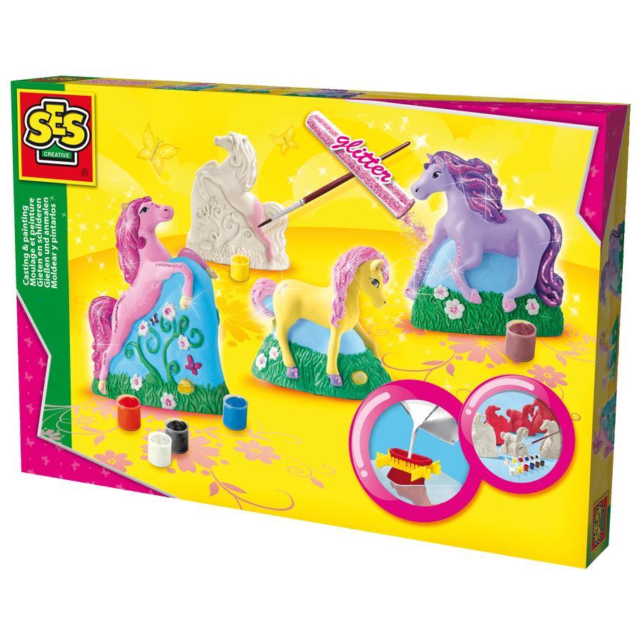 SES Creativ e® figuras de yeso - caballos