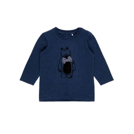 name it Girl s camicia manica lunga Fiole stone blue