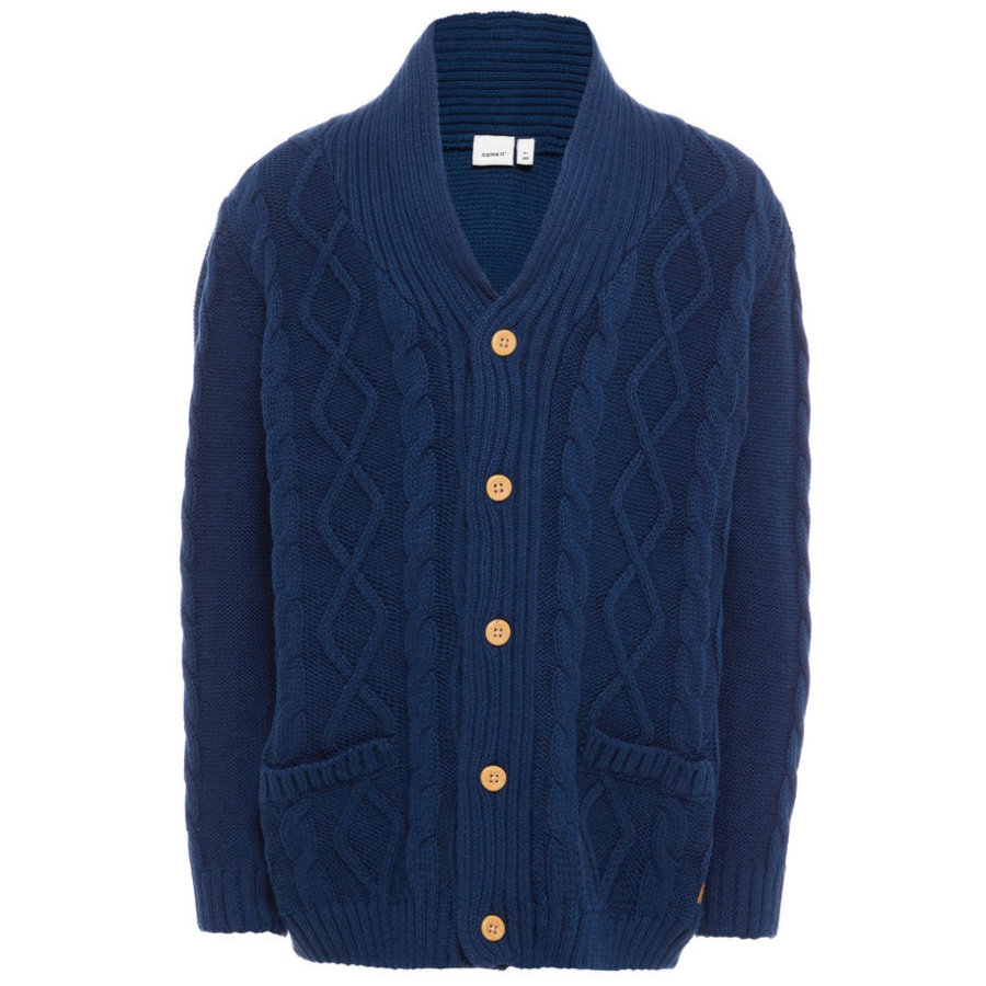 name it Boys Sweter Cardigan Finkal dress blues