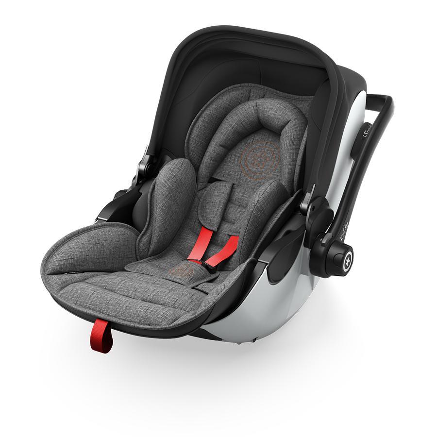 Kiddy Seggiolino auto Evoluna i-Size 2 inclusa base Isofix 2 Grey Melange Hot Red