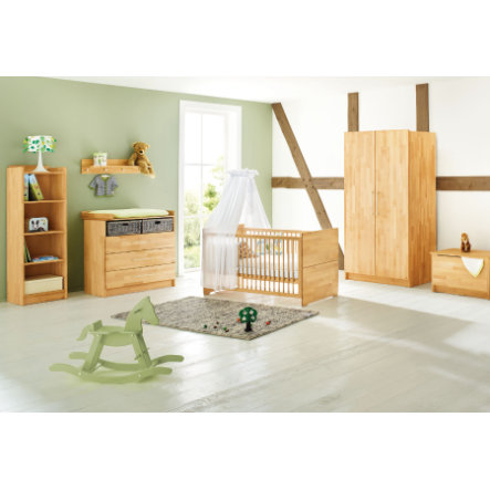 PINOLINO Lit enfant, commode à langer, armoire 3 pcs. Natura, large