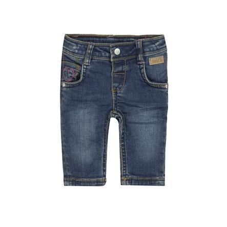 běžel! Girls Jeans tmavě modrá džínovina