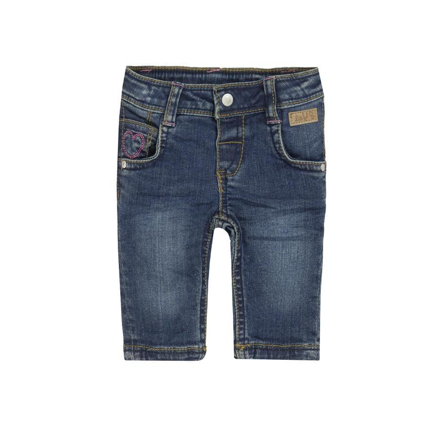 rende! Girl De jeans van donkerblauwe denim...