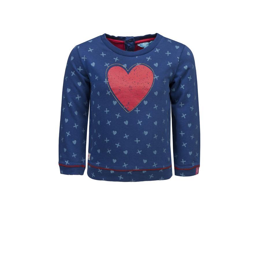 ran ! Girl s Sweatshirt allover bleu