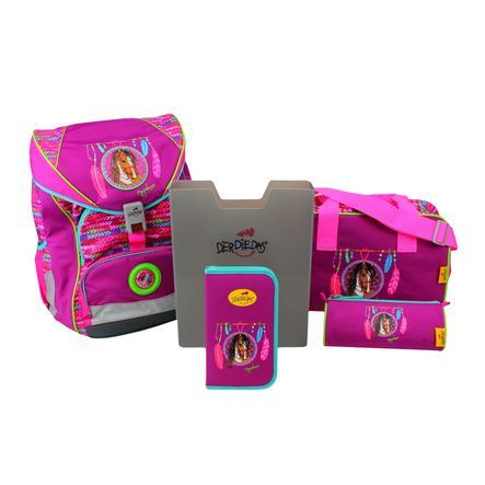 DerDieDas® Cartable ErgoFlex XL - Appaloosa, 5 pièces