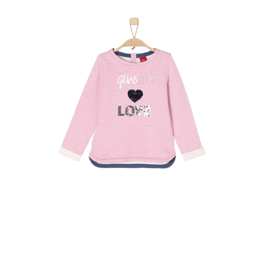 s.Oliver Girls Sweatshirt pink stripes