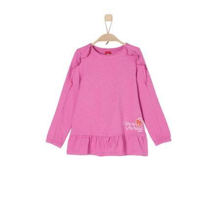 s.Oliver Girls Langarmshirt pink melange