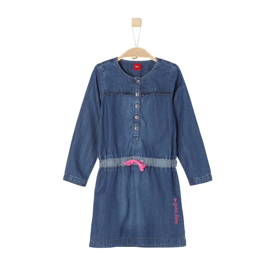 s.Oliver Girl s robe denim bleu bleu non extensible