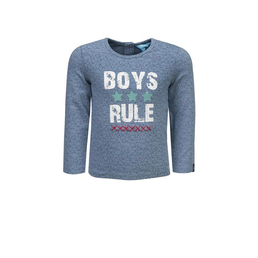 uciekła! Boys Koszula z długim rękawem niebieska