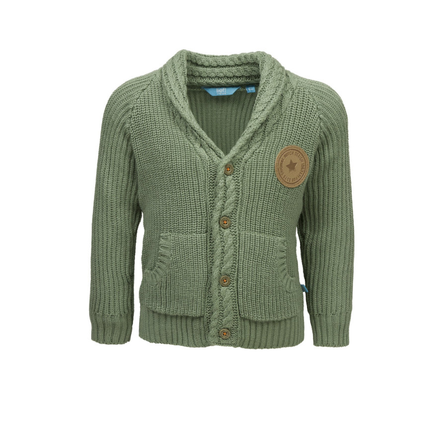 lief! Boys Cardigan hedge green