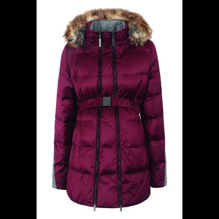 Manteau de grossesse hiver à capuche bordeaux