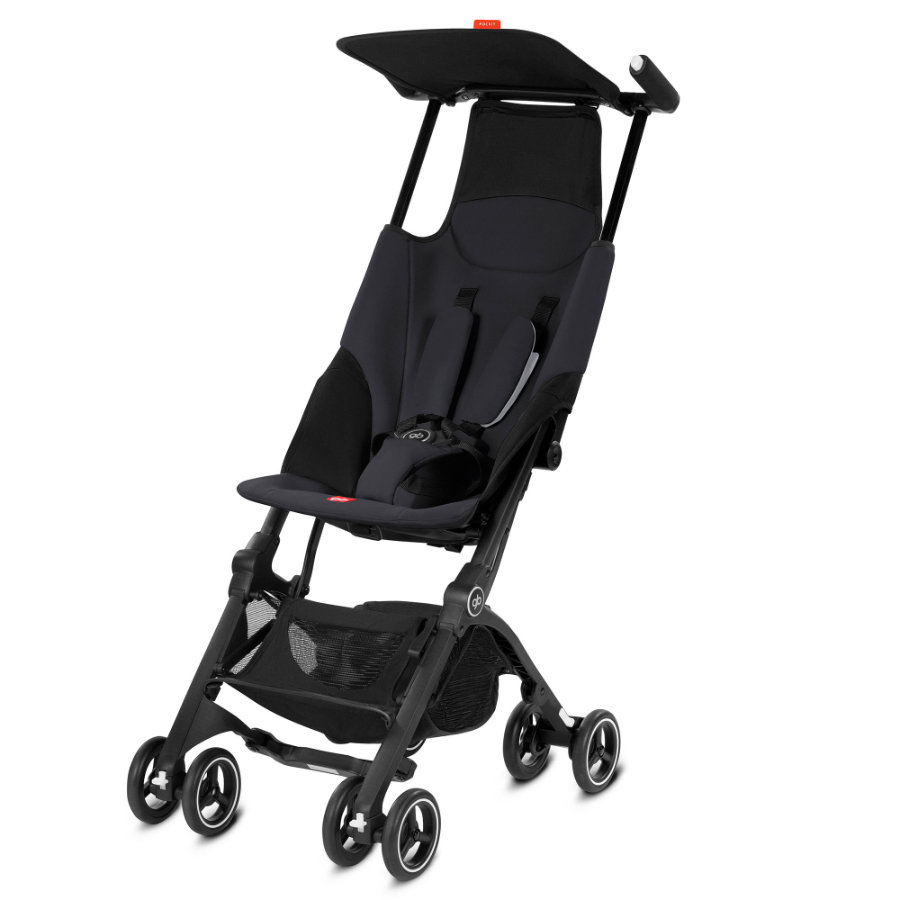 gb GOLD Buggy Pockit Satin Black-black