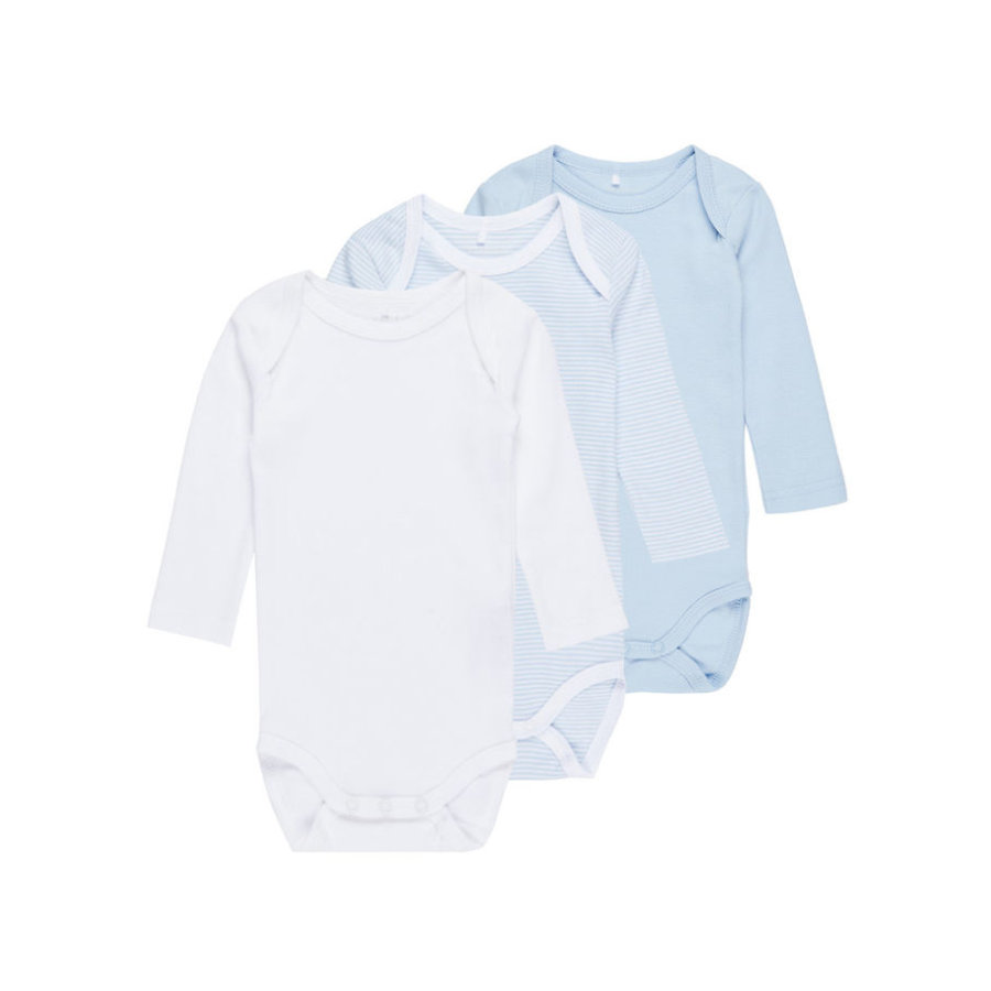 name it Boys Body 3er-Pack cashmere blue