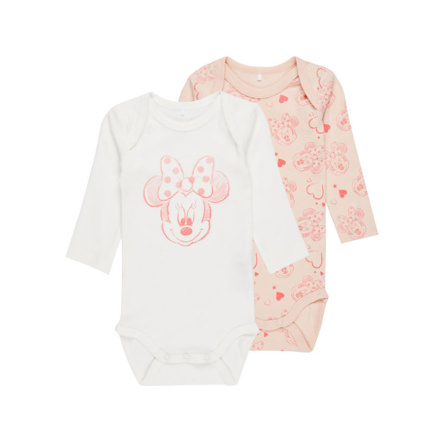 name it Girls Body 2er-Pack Minnie peachy keen