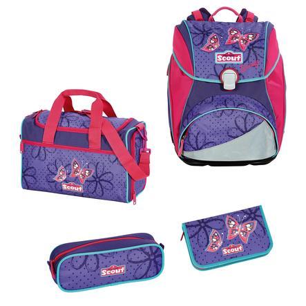 SCOUT Alpha Plecak z akcesoriami szkolnymi, 4-częściowy - Savage
