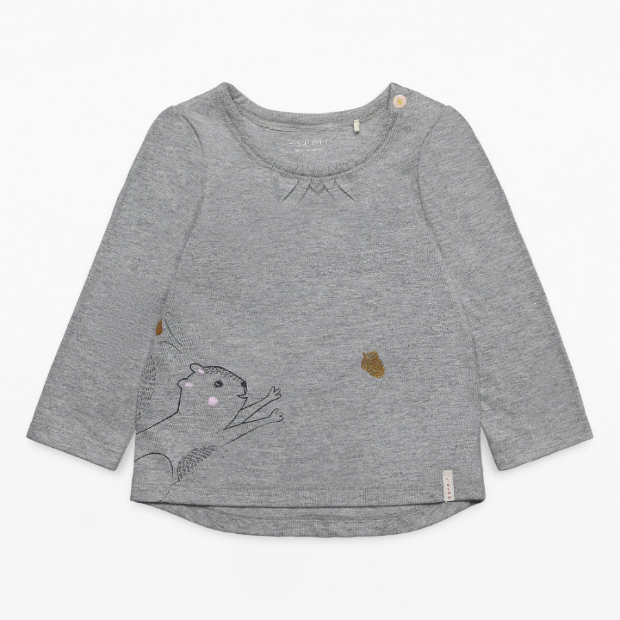 ESPRIT Girls Langarmshirt mid heather grey
