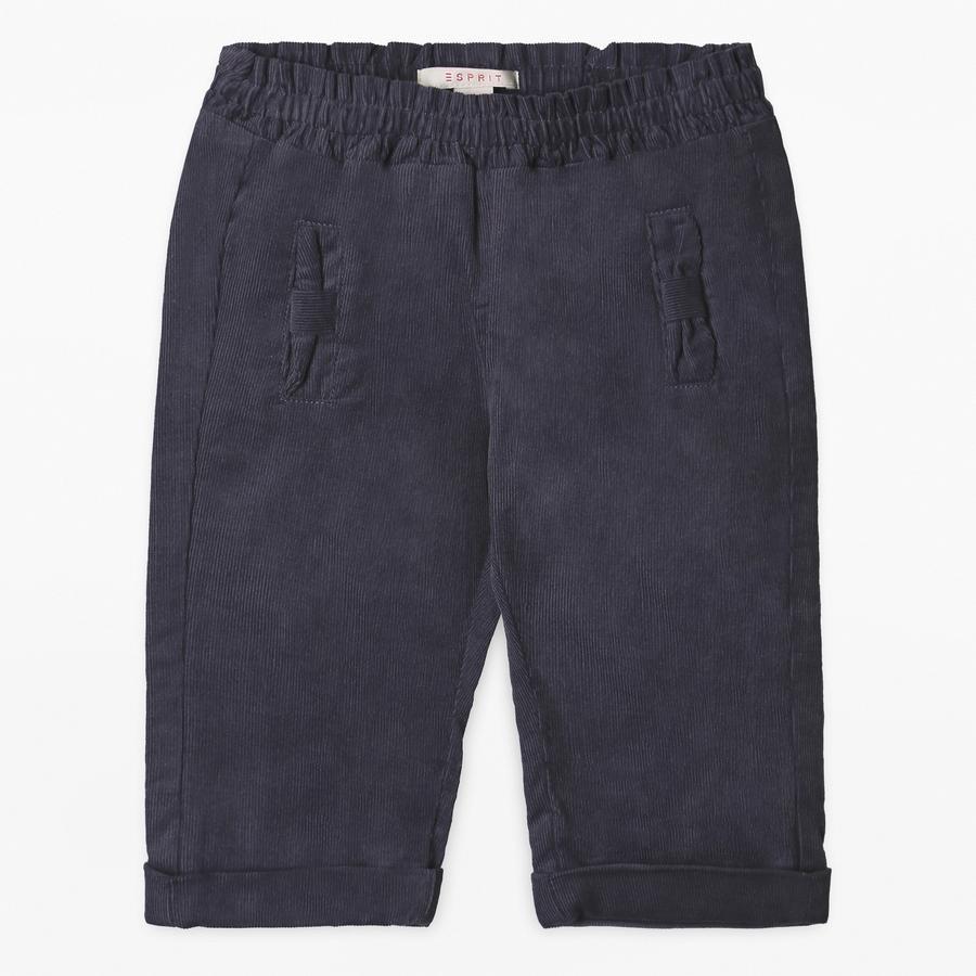 ESPRIT Girl s Pantalón de pana antracita