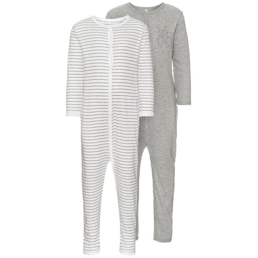 name it Pyjama enfant, gris, 2 pièces