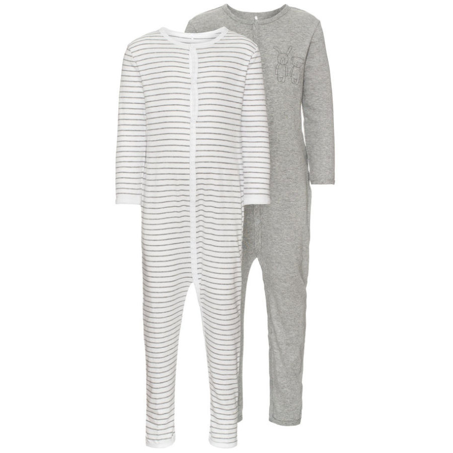 name it Schlafoverall 2er Pack grey melange