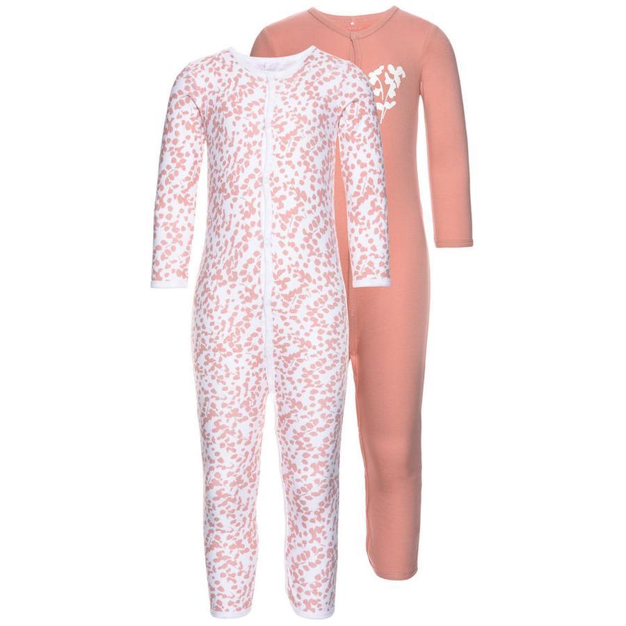 name it Girl S Sleeping overall 2er Pack 2er rosa abbronzatura