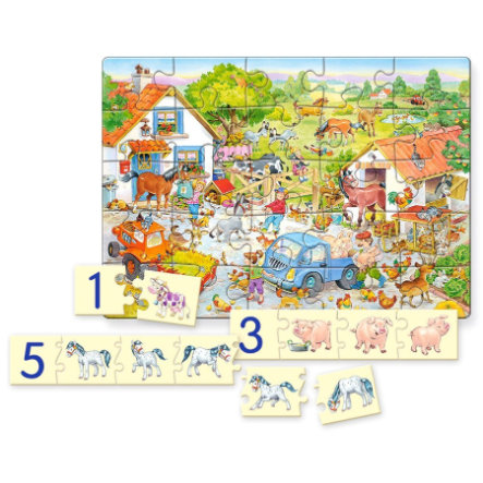 GLOW2B Castorland: Counting on the Farm, puzzel 98 delen