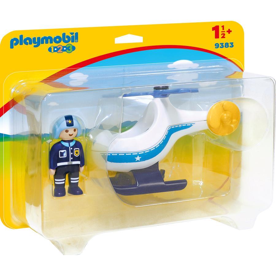 Playmobil 9383 Policejní vrtulník s pilotem