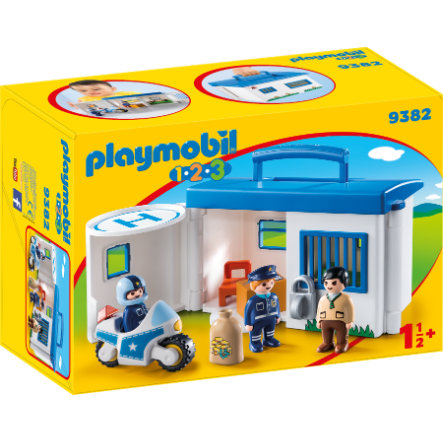 PLAYMOBIL® 1 2 3 Commissariat de police transportable 9382