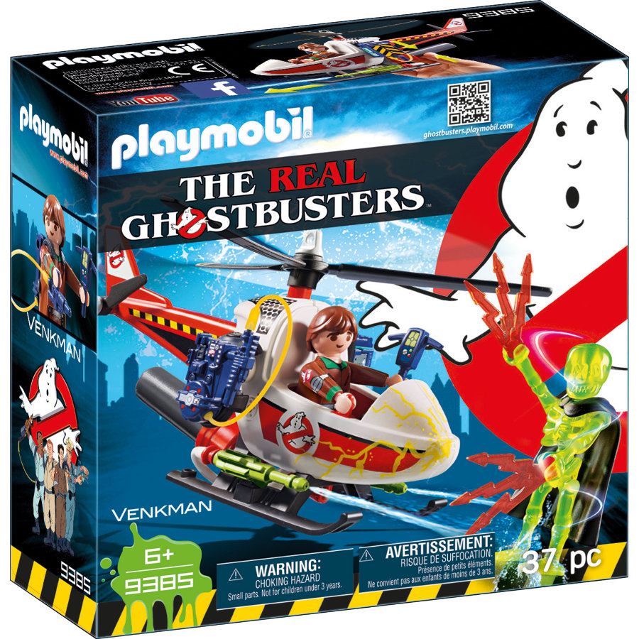PLAYMOBIL® THE REAL GHOSTBUSTERS™ Venkman mit Helikopter 9385
