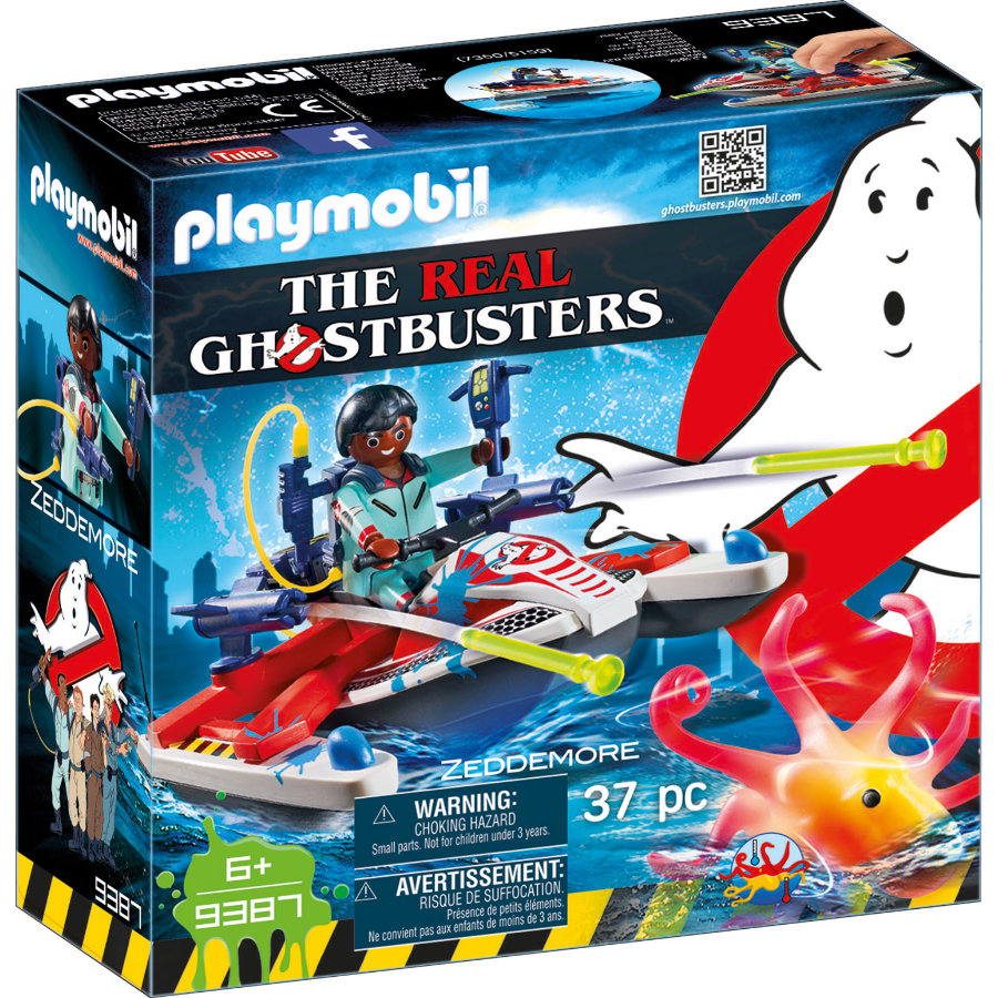playmobil® THE REAL GHOSTBUSTERS™ Zeddemore med vattenskoter 9387