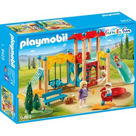 PLAYMOBIL® Family Fun Parc de jeu et toboggan 9423