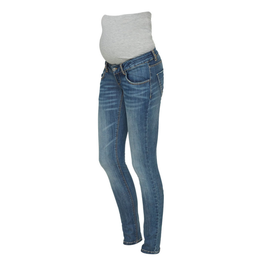 mama licious Umstandsjeans MLFREEDOM Medium Blue Denim