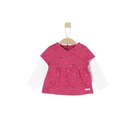s.Oliver Girl s chemise à manches longues violet / rose