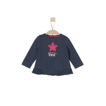 s.Oliver Girl camicia manica lunga s blu scuro