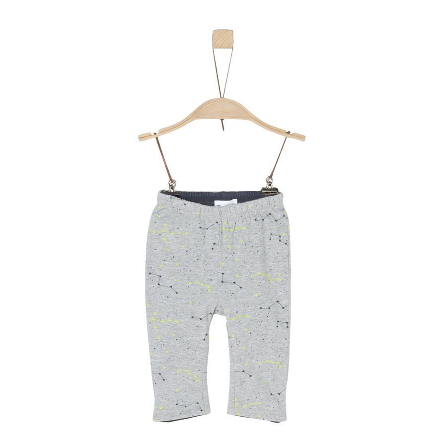 s.Oliver Boys omkeerbare broek grijs/zwart