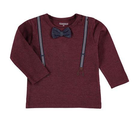 STACCATO  Chlapecké tričko s dlouhým rukávem tmavě červené melanžové