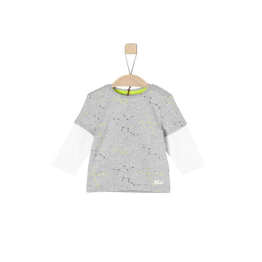 s.Oliver Boys Koszula z długim rękawem szara