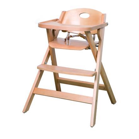 roba Chaise haute bébé pliable bois naturel
