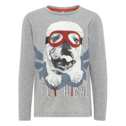 name it Boys Langarmshirt Nmmgisto grey melange