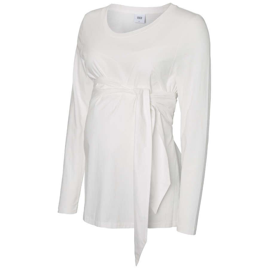mama licious Langarmshirt MLCELINE bright white