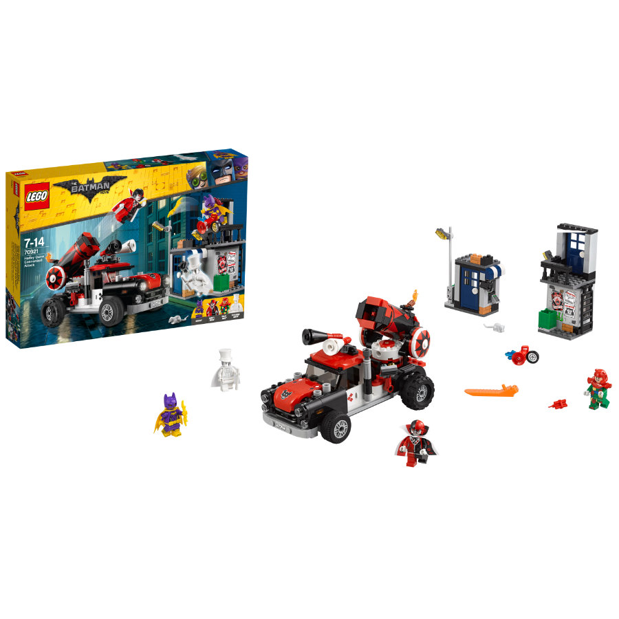 LEGO® Batman Movie™ - L'attaque boulet de canon d'Harley Quinn™ 70921