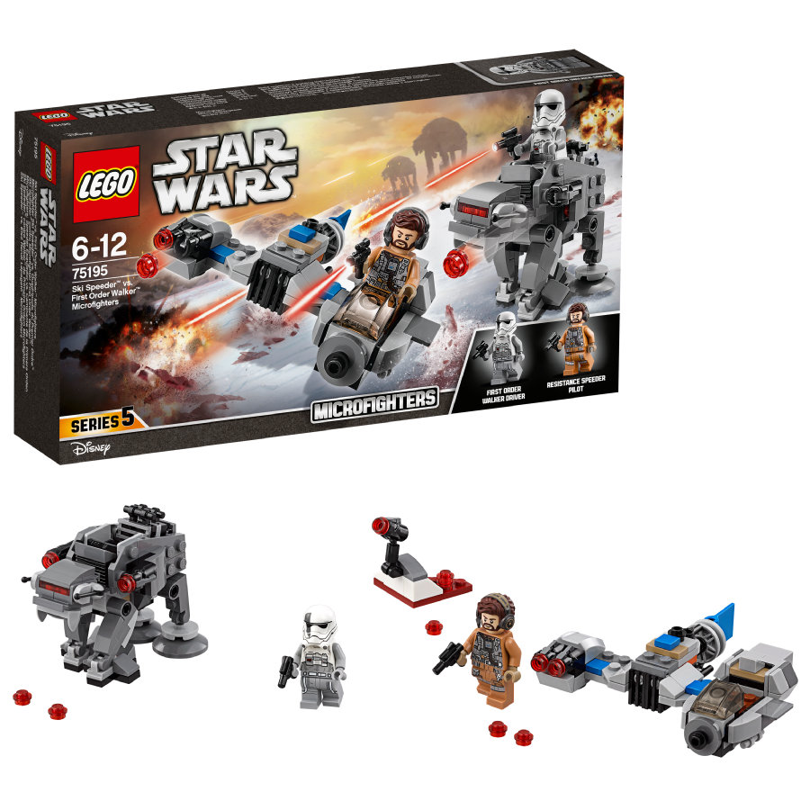 lego star wars ski speeder vs first order walker microfighters 75195. Black Bedroom Furniture Sets. Home Design Ideas