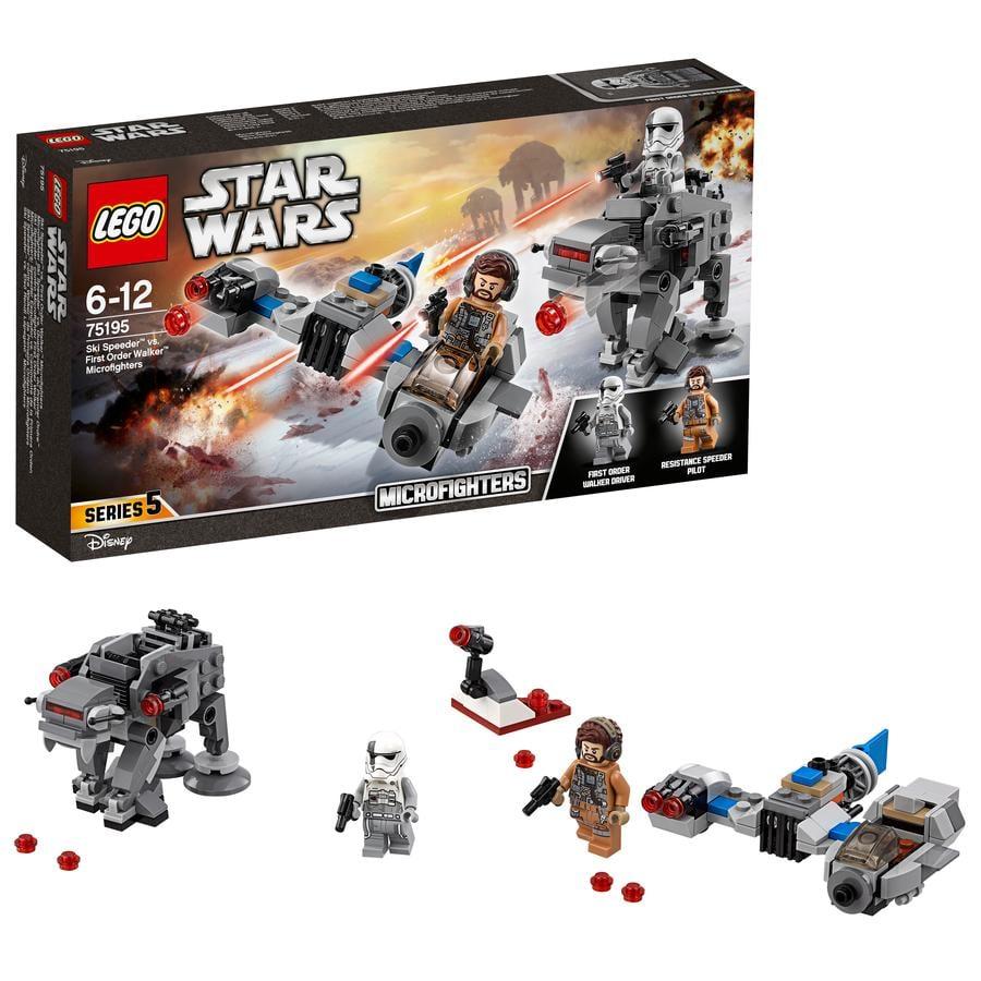 LEGO® Star Wars™ Suksikiituri vastaan Ensimmäisen ritarikunnan talsija-mikrohävittäjät 75195