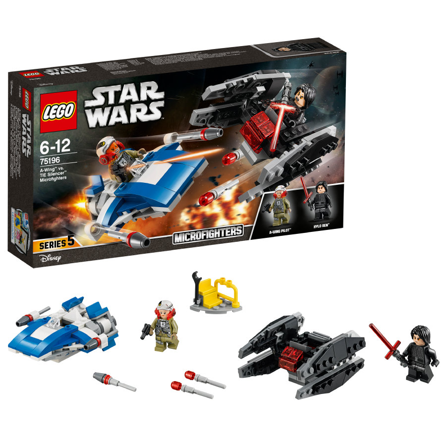 lego star wars a wing vs tie silencer microfighters 75196. Black Bedroom Furniture Sets. Home Design Ideas