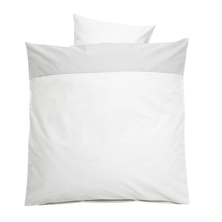 ALVI Parure de lit Little Dots, gris, 80 x 80 cm