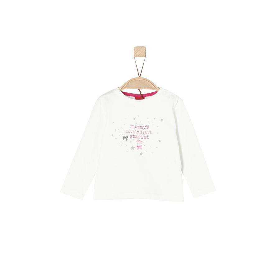 s.Oliver Girl s camiseta manga larga ecru
